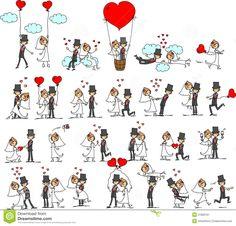 cartoon wedding vector - Pesquisa Google