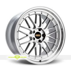 BBS LM Forged Multi Piece Silver Wheels For Sale - For more info:  http://www.wheelhero.com/customwheels/BBS/LM-Forged-Multi-Piece-Silver