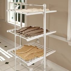 Three-tier Electric Drying Rack - Frontgate