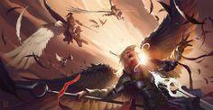 Angel Aerial Combat Pindurski Ethereal Dissension by Hugh Pindur Lugia, Fantasy Races, High Fantasy, Dark Souls, Angel Wallpaper, 1080p Wallpaper, Angel Warrior, Ange Demon, Fanart