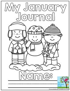 """January Journal Prompts- Over 20 prompts included in this packet!  Each includes """"I Can.."""" statements and an illustrated word bank to help generate ideas!"""