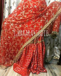 Gharara with zari and Resham jaal dupatta and zardozi cutwork lace. Deliver Worldwide Complete Stitched +919971865919 #Gharara #ghararastudio #ghararastudiobyshazia #wedding #weddinggharara #bride #bridal #bridalgharara #nikah #reception #walima #kamkhwab #handwork #handcraft #glamour #glamorous #royal #royalty #fashion #fashionable #fashionblog #fashiongram #fashionista #fashionblogger #instafashion #instapic #instalove #picoftheday