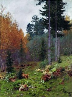 In the forest at autumn - Isaac Levitan, 1894, The A. A. Deineka Kursk state art gallery, Kursk, Russia