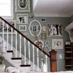 Staircase picture frames for wall Design Ideas, Pictures, Remodel and Decor