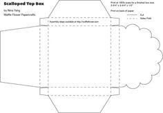 scalloped top box template