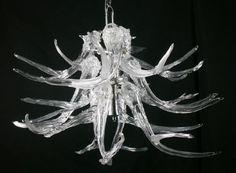"Stunning Jared Davis ""Glass Antler Chandelier"" from Gallery MAR in Park City, Utah."