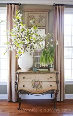 Paperwhites on cabinet