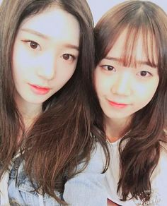 #IOI girls #MBK Chaeyeon and #Fantagio Yoojung