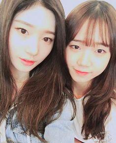 #IOI girls #MBK Chaeyeon and #Fantagio Yoojung