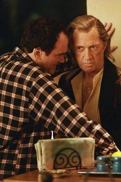 Quentin Tarantino directing David Carradine on set of Kill Bill Vol. 2