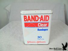 Band aid clear bandages tin