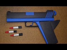 |DIY| How to Make a Paper Defense Gun That Shoot Paper Bullet-Toy Weapons-By. Dr.Origami - YouTube Cool Paper Crafts, Paper Crafts Origami, Origami Art, Fun Crafts, Origami Weapons, Paper Sword, Diy For Kids, Crafts For Kids, Origami Instructions