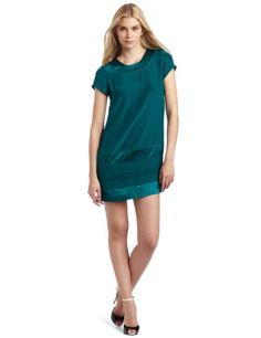 Amazon.com: WHAT GOES AROUND COMES AROUND Women's Evalyn Dress, in beautiful teal. This is a shift dress (hangs loosely), so it's great for CC behind the hip in the UnderTech Compression Shorts.