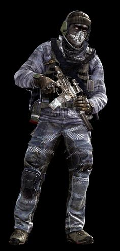 Call of Duty Ghosts © Activision / Infinity Ward ------- Jake Rowell = Art Lead  & Marketing Image / Nghia Lam = Character Art / Steven Giesler & Jake Rowell = Head Art / Sean Byers = Weapon Art