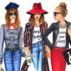 Fashion-illustrations-of-fashion-bloggers-by-Rongrong-DeVoe