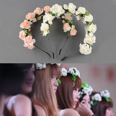 Long Light And Shiny Led Flower Floral Hairband Garland Crown Glowing Wreath Vines Headband #6 Sales Of Quality Assurance Wedding Accessories