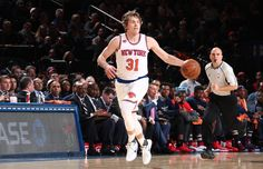 NEW YORK, NY - JANUARY 9:  Ron Baker #31 of the New York Knicks ;htb ;against the New Orleans Pelicans on January 9, 2017 at Madison Square Garden in New York, NY.  NOTE TO USER: User expressly acknowledges and agrees that, by downloading and or using this photograph, User is consenting to the terms and conditions of the Getty Images License Agreement. Mandatory Copyright Notice: Copyright 2017 NBAE  (Photo by Nathaniel S. Butler/NBAE via Getty Images)