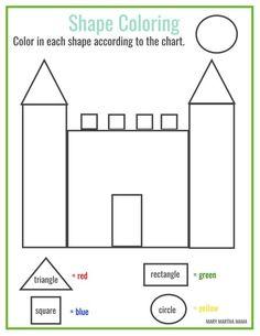 Free printable shape coloring printable