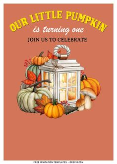 Awesome 8+ Cute Pumpkin Carving First Birthday Invitation Templates With all of the fresh pumpkins, and fall-themed wreaths and flowers, it's such a fun and relatively easy time of year to decorate. Looking for some entertaining ideas for your Autumn/Fall events...