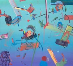 "Saatchi Art Artist Alon Kedem; Painting, ""Red Line"" #art"
