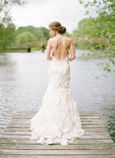 Cross back wedding dress - hot trend for Wedding Season S/S 2014.