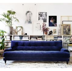 The velvet sofas are really cool right now and we absolutely love them! They are classy and perfect for a retro inspired room, but they're also chic and fit in a minimalistic room. Also, they come in