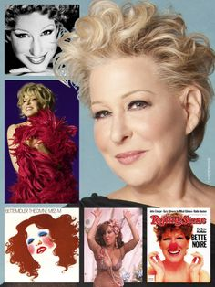 also known by her informal stage name, The Div. Bette Midler, Hollywood Icons, Hollywood Stars, Judi Dench, She Movie, Meryl Streep, My Favorite Music, American Singers, Powerful Women