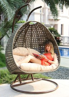 2 Person Heavy Duty Double Hammock Porch Swing Chair Outdoor Swinging Chair New #IslandGale