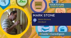 Mark Stone set up his own business creating high-quality bespoke hand-made hardwood furniture which are sought by customers across the country. Many of his workforce also trained at Coleg Ceredigion. #madeinCeredigion