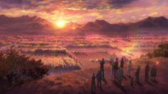 I'm a sucker for sunrise/sunsets. Gin no Saji / Silver Spoon S2 Opening