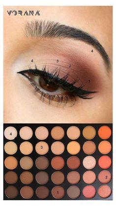Simple Makeup Looks, Makeup Eye Looks, Simple Eye Makeup, Natural Eye Makeup, Smokey Eye Makeup, Eyeshadow Makeup, Easy Makeup, Pretty Makeup, Natural Beauty