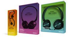 Sony Headphones by Meredith Morten, via Behance