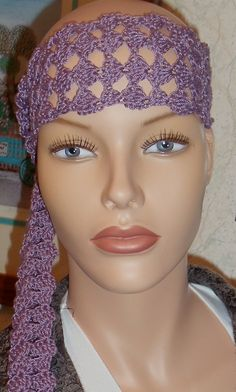 Available at Captola at Etsy.com Don't hide that bald head.  Purple crochet scarf and/or headband