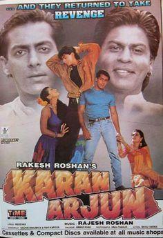 Shahrukh Khan, Salman Khan, Kajol and Mamta Kulkarni - Karan Arjun (1995)