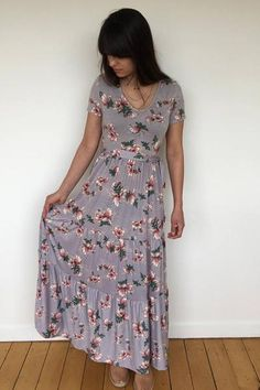 Floral Maxi Dress Casual and Cute