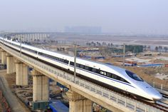If you want to try a high-speed train travel, you can consider China. China launched high-speed trains by the end of accounting for 60 percent Shanghai, High Speed Rail, Train Service, Speed Training, Train Tickets, Varanasi, Train Tracks, Guangzhou, Beijing