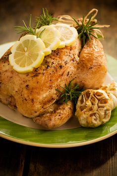 Paula Deen Lemon Pepper and Rosemary Roasted Chicken.   Made this tonight.. it was easy & delicious!