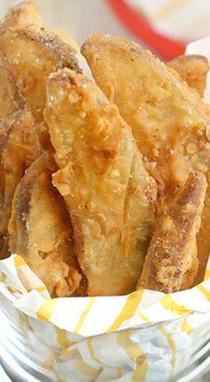 Copycat KFC Potato Wedges.