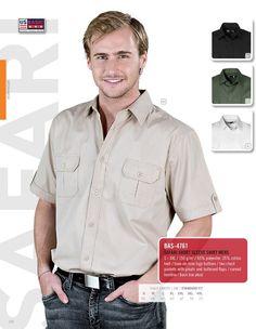 US Basic - Safari Short Sleeve Shirt - MEN Shirt Men, Shirt Sleeves, Safari, Style Me, Button Down Shirt, Men Casual, Mens Tops, Shirts, Clothes