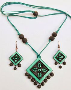 "Handmade Terracotta jewellery by ""EARTH STUDIO"""