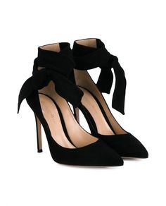 GIANVITO ROSSI | Suede Heeled Sandals with Ankle Tie