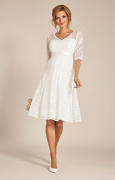 a421930fe0e Flossie Dress. Pregnant Wedding DressModest Wedding GownsTea ...