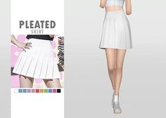 Pleated Skirt • New mesh / EA mesh edit • Category: bottom (women) • Age: teen / young adult / adult / elder • 11 swatches • Suggested by several anonymous people Download: SimFileShare | Dropbox