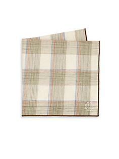 white pocket square brown trim - Google Search