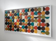 Paint Chip Wall, Paint Chips, Diy Painting, Painting On Wood, Paint Swatch Art, Mid Century Modern Colors, Geometric Circle, 3d Wall Art, Collaborative Art