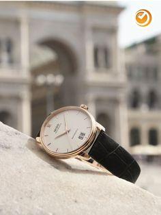 Mido Baroncelli III Big Date Herrenuhr nur Cello, Marken Logo, Omega Watch, Accessories, Black Braces, Diving Watch, Glass Floor, Wristlets, Leather