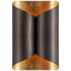 "Selfoss Sconce in Bronze with Gild InteriorItem # ARN 2036BZ Designer: AERINHeight: 11""Width: 7""Extension: 4.25""Backplate: 4.5"" x 6.25"" RectangleSocket: 2 - E12 CandelabraWattage: 2 - 25 C"