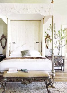 Bedroom remodel tips - An effective way to build up your design ideas is always to watch Home and Garden on television. There are plenty of television programs around that gives you some popular ideas and teach you could make them a reality at your home. Room Photo, Tuscan Bedroom, Suites, High Fashion Home, Beautiful Bedrooms, Beautiful Homes, Dream Bedroom, Royal Bedroom, Silver Bedroom