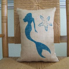 Hey, I found this really awesome Etsy listing at https://www.etsy.com/listing/398788715/mermaid-starfish-pillow-beach-decor