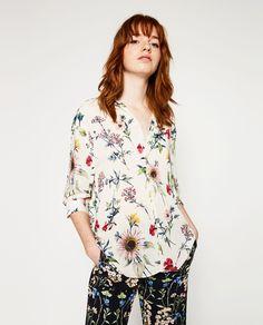 PRINTED BLOUSE-Florals-TOPS-WOMAN | ZARA United Kingdom